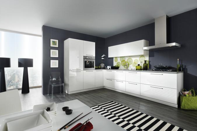 Moderne Hoogglans Keuken : Keuken franchetti een moderne keuken in wit hoogglans